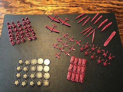 Axis and Allies Europe 1940 USSR Soviet Russian Battle Pieces Lot