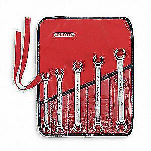 PROTO Flare Nut Wrench Set,5 Pieces,6 Pts, J3700M