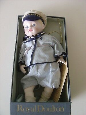 Royal Doulton Nisbet Prince William Doll Limited Ed. 869/2500, Original Box
