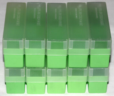 10 Fuji 35mm Slide Storage Boxes with Lids (straight sides)
