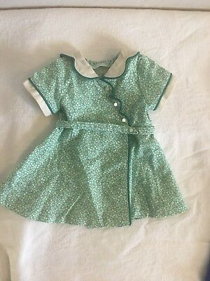 Retired American Girl KIT Birthday Dress Outfit Green Floral