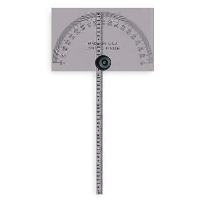 MITUTOYO Steel Protractor,Rectangular,6 In,1/64 Grad, 968-203