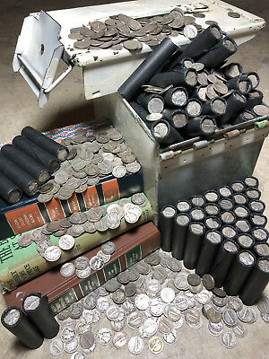 Silver Coins Old Bullion Mercury Dimes Barber Lot Roll Set Bank Collection Sale!