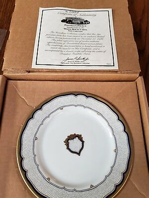 Woodmere White House China Collector Plate Franklin Pierce 0308a