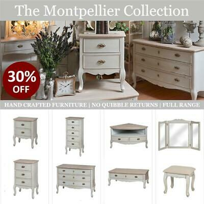 French Country Shabby Chic Bedroom Furniture, Chest of Drawers, Bedside Tables