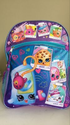 "Brand New Shopkins Girls I Heart SPK 16"" Backpack Kids School Book Bag  Pink"