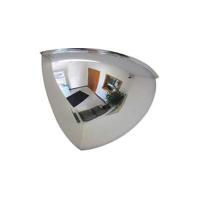 GRAINGER APPROVED Quarter Dome Mirror,32In., Acrylic, ONV-90-32