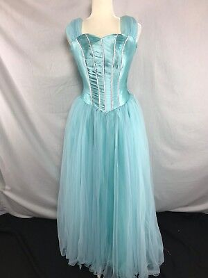 Turquoise Princess Dress Gown Costume Elsa Queen Prom Formal Plus Size 26