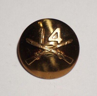 14th Infantry Regiment Enlisted Collar Disc Pin Post WWII US Army M2067