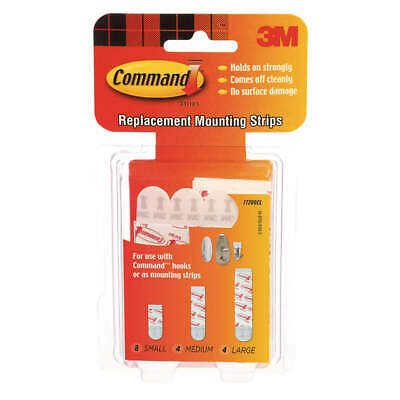 COMMAND Assorted Replacement Strip,Foam,PK16, 17200, White