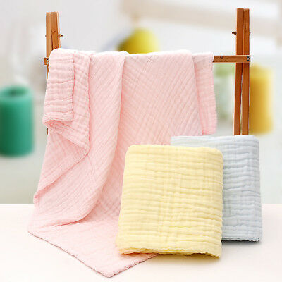 CN_ NE_ Soft Cotton Baby Infant Newborn Bath Towel Washcloth Feeding Wipe Clot