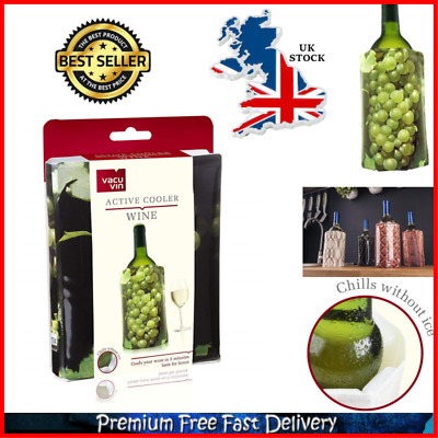 Wine Bottle Chiller Active Cooler Sleeve Jacket For Parties Picnics Or Barbecues