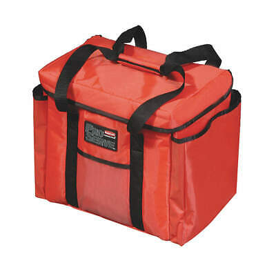 RUBBERMAID COMMERCIAL PRODUC Nylon Insulated Bag, 12 x 15 x 15, FG9F4000RED, Red