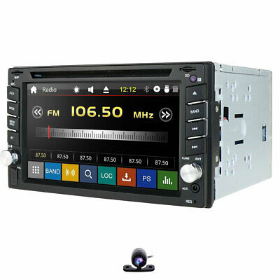 "6.2"" Double 2 Din Car Stereo HD CD DVD Player Radio Bluetooth with Backup Camera"