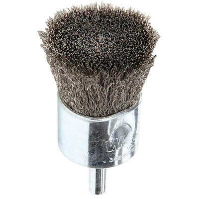 WEILER Crimped Wire End Brush,Stainless Steel, 96307