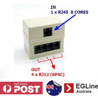 4 Way telephone outlet splitter Surface Box