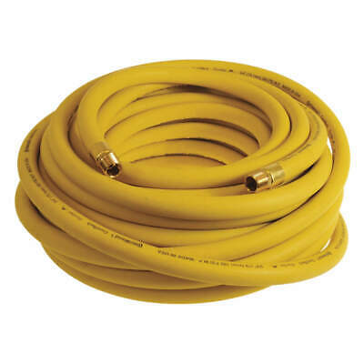 "CONTINENTAL CONTITECH Air Hose,Yellow,1/4"",100 ft.,300 psi, HZY02530-100-11-G"