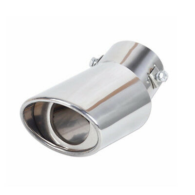 1Pc Refit Universal Oval Stainless Steel Exhaust Tail Muffler Tip Pipe Car Decor