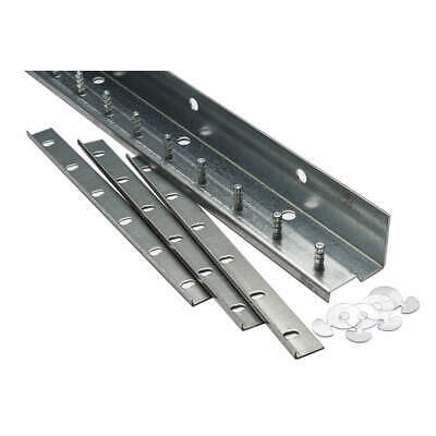 TMI Galvanized Steel Save-T-Loc Strip Door Hdwr,5ft,Galv Stl, 999-10076