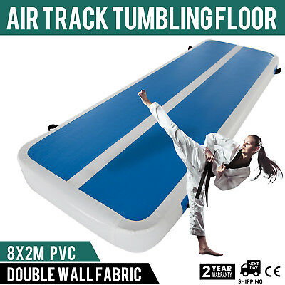2x8M Air Track Home Floor Gymnastics Tumbling Mat Inflatable GYM Sporting