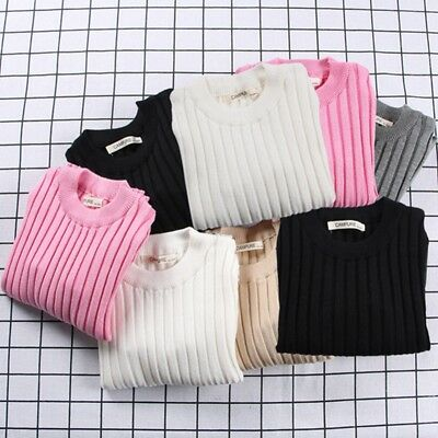 Autumn Winter Warm Baby Boys Girl Kids Toddler Knite Sweater Pullover Clothes