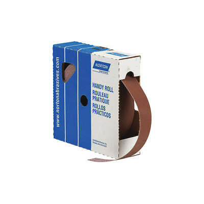 "NORTON Abrasive Roll,1""W x 150 ft. L,600G,Cloth, 66261126266, Brown"