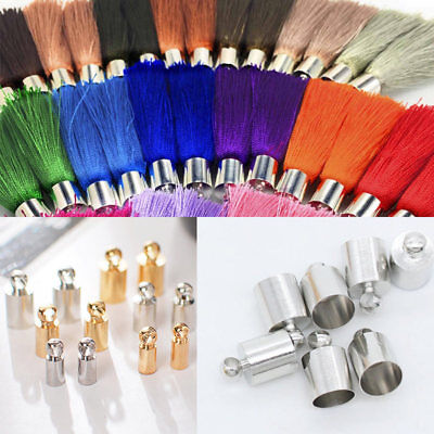 20 DIY Tassel Leather End Cap Jewellery Finding Making Craft Earring Accessories