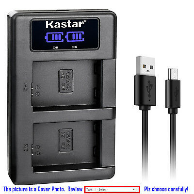 Kastar LCD Dual Charger Battery for Canon LP-E6N LC-E6E & Canon EOS 6D Mark II