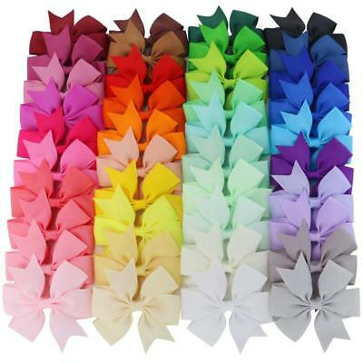 Mybigqueen 40Pcs 3'' Baby Hair Bows For Girls Grosgrain Boutique bow Clips For