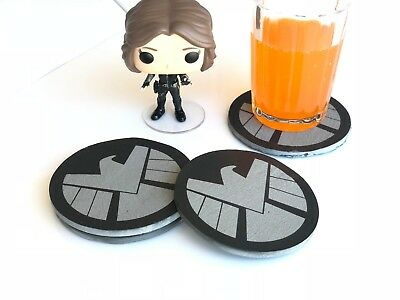 Agents of Shield Rounded Logo Slate Coasters - Set of 4