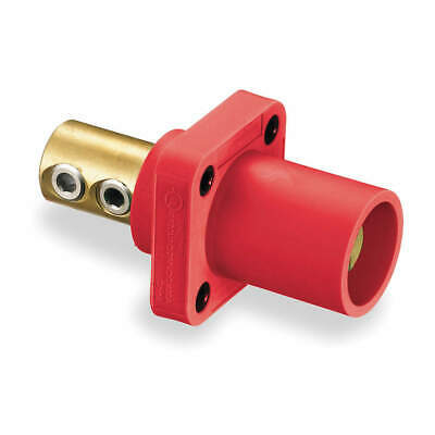 HUBBELL WIR Thermoplastic Elastomer Receptacle,Double Set Screw,Red, HBLMRR, Red