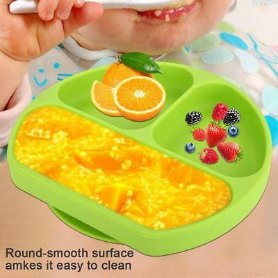 Baby Toddler One Piece Silicone Placemat Plate Dish Food Tray Kids Toddler Table