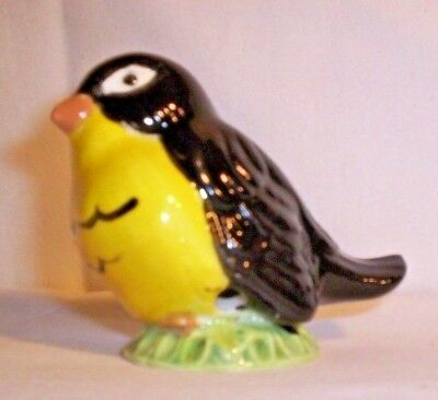 "BIRD F189 03.514.2 Ceramic Black/Yellow ""R"" Bird Pie Bird"