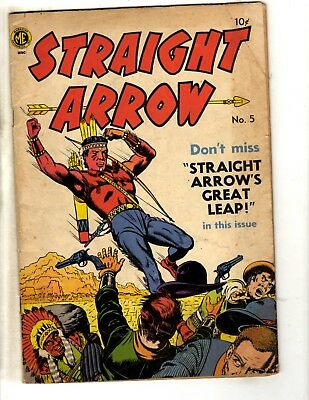 Straight Arrow # 5 VG ME Golden Age Comic Book Cowboys Indians Western BE1