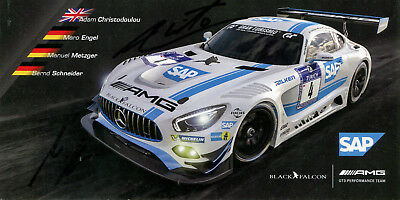 Black Falcon AMG Mercedes GT3 24h Nürburgring #4 Top Karte 10x20