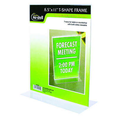 NUDELL Sign Holder,Freestandng,8-1/2x11,Acrylic, 38020, Clear