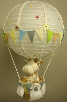 HOT AIR BALLOON Lamp-light Shade for Baby Nursery with ALFIE