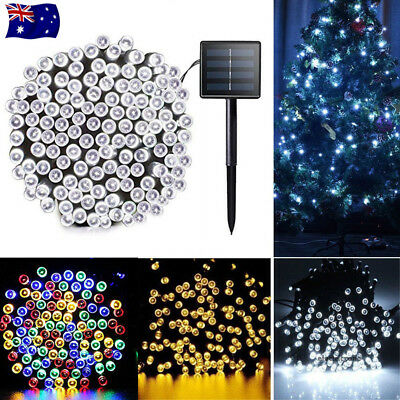 Solar Powered 100/200/500 LED String Fairy Lights Garden Outdoor Xmas Party Lamp