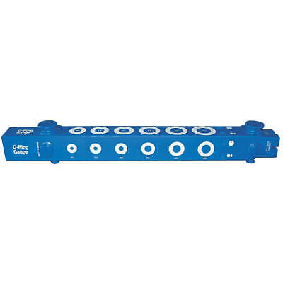 GRAINGER APPROVED O-Ring Sizing Gauge,Plastic,Blue, 5JKC0, Blue