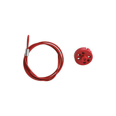 BRADY Cable Lockout Device,4.91 ft. L,Red, 122241, Red