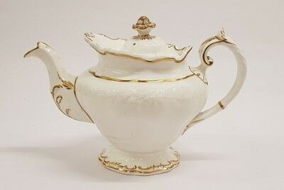Antique Copeland Garrett Late Spode Felspar Green Teapot Tea Pot c1840 (AB)
