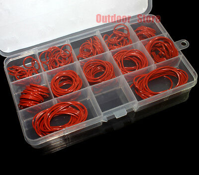 180pcs Red Food Grade Silicone O-Ring Assortment Kit  ( Line diameter:1.5mm)