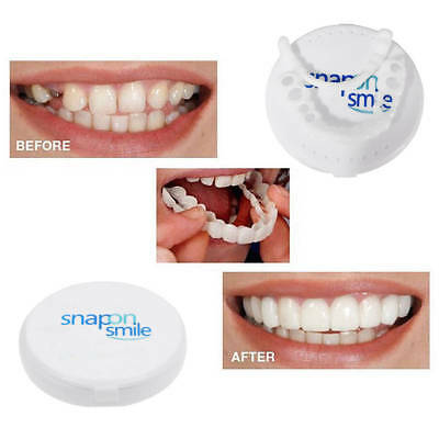 Snap On Instant Smile Perfect Smile Comfort Fit Flex Teeth Fits Veneers w/ Case