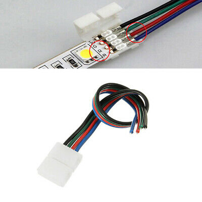 10-50 Stück 4 Pin 8MM PCB Connector Cable Clip For RGB 3528/2835 LED Strip Light