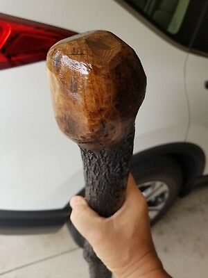"POWERFUL 39"" Very Strong Shillelagh Celtic Walking Cane Solid"