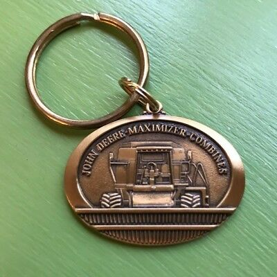 John Deere Maximizer Combine Collectible Key Chain Brass Plated