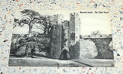 Rare Vintage  Postcard of Warwick Castle : The Clock Tower - circa 1910