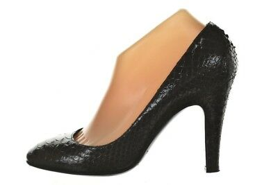 aebb42134a0 Sigerson Morrison Womens Shoes Size 9 Black Textured Leather Classic Pumps  Heels
