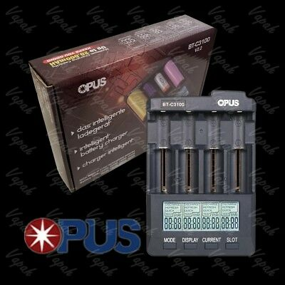 Opus BT C3100 Four Channel Intelligent Battery Charger/ 21700 20700 18650 AAA AA
