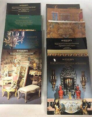 French European Continental Art Auction Sotheby's Lot of 9 Catalogues